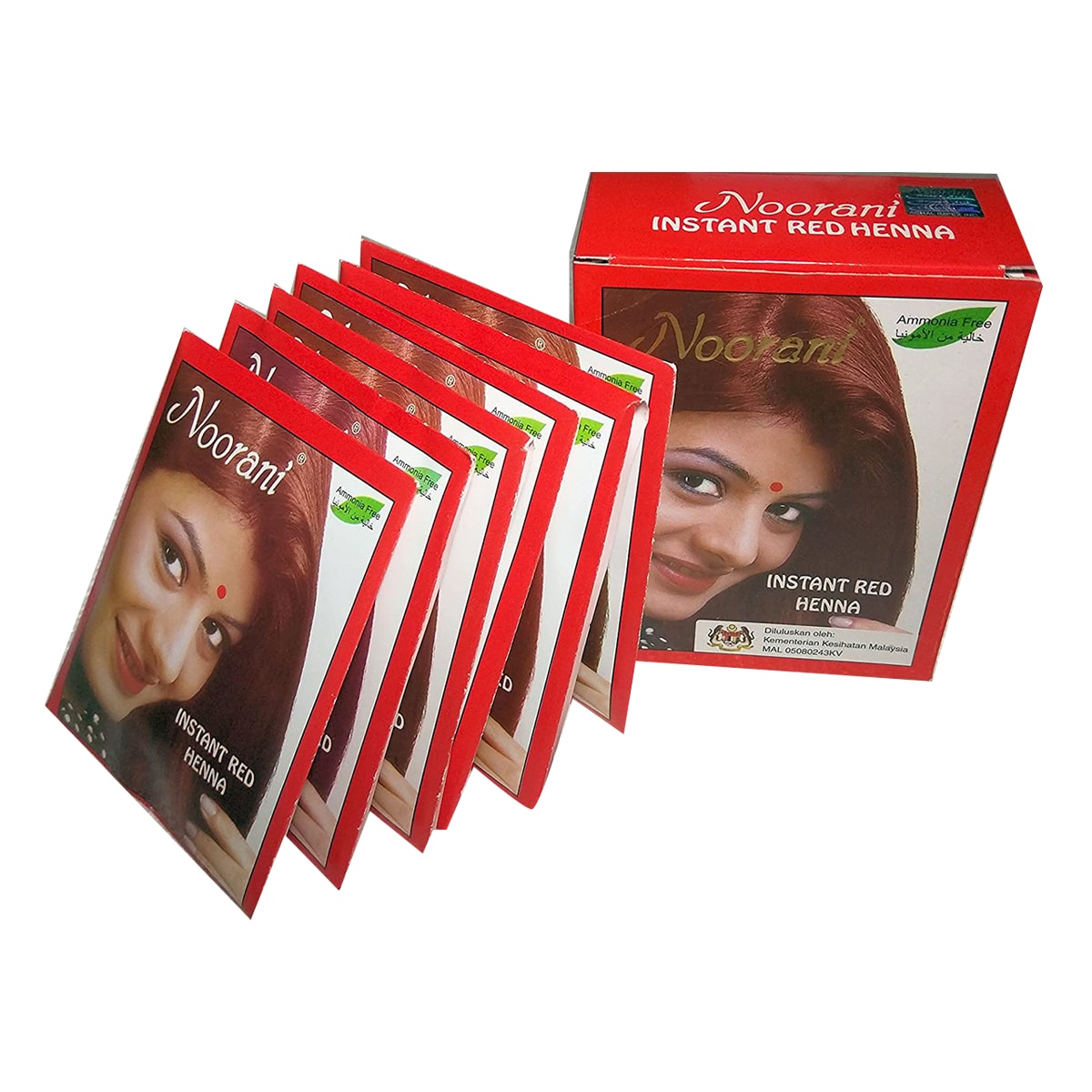 Buy Noorani Instant Red Henna (6 Packets 10 gm Each) - 6 Packet