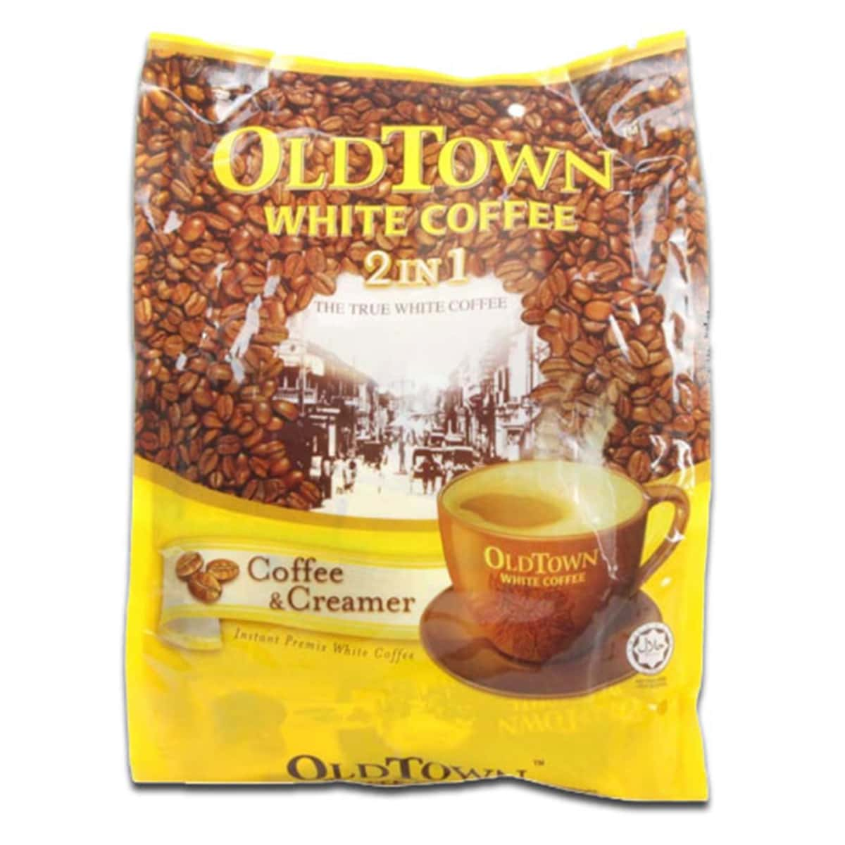 Buy Old Town White Coffee 2 in 1 (Coffee and Creamer) 25g X 15 Sachets - 375 gm