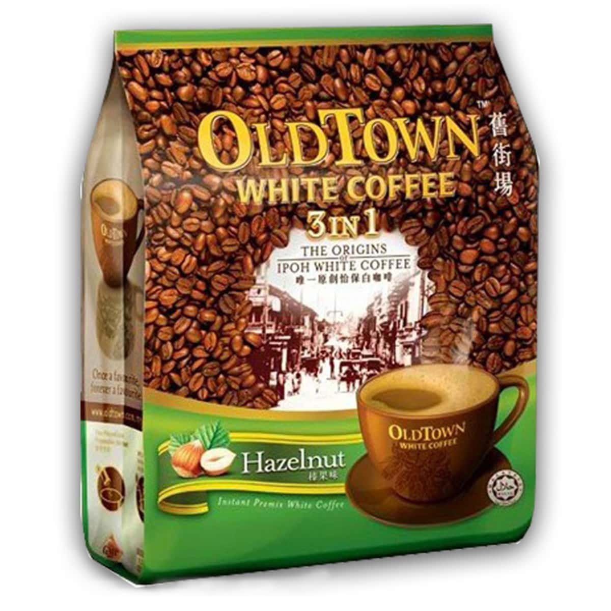 Buy Old Town White Coffee 3 in 1 (Hazelnut Flavour) - 600 gm