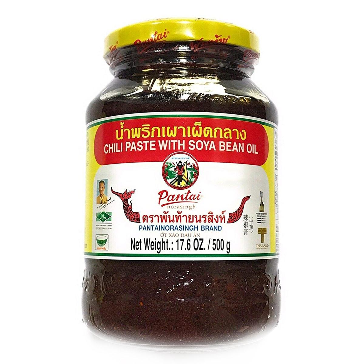 Buy Pantainorasingh Chili Paste with Soya Bean Oil - 500 gm