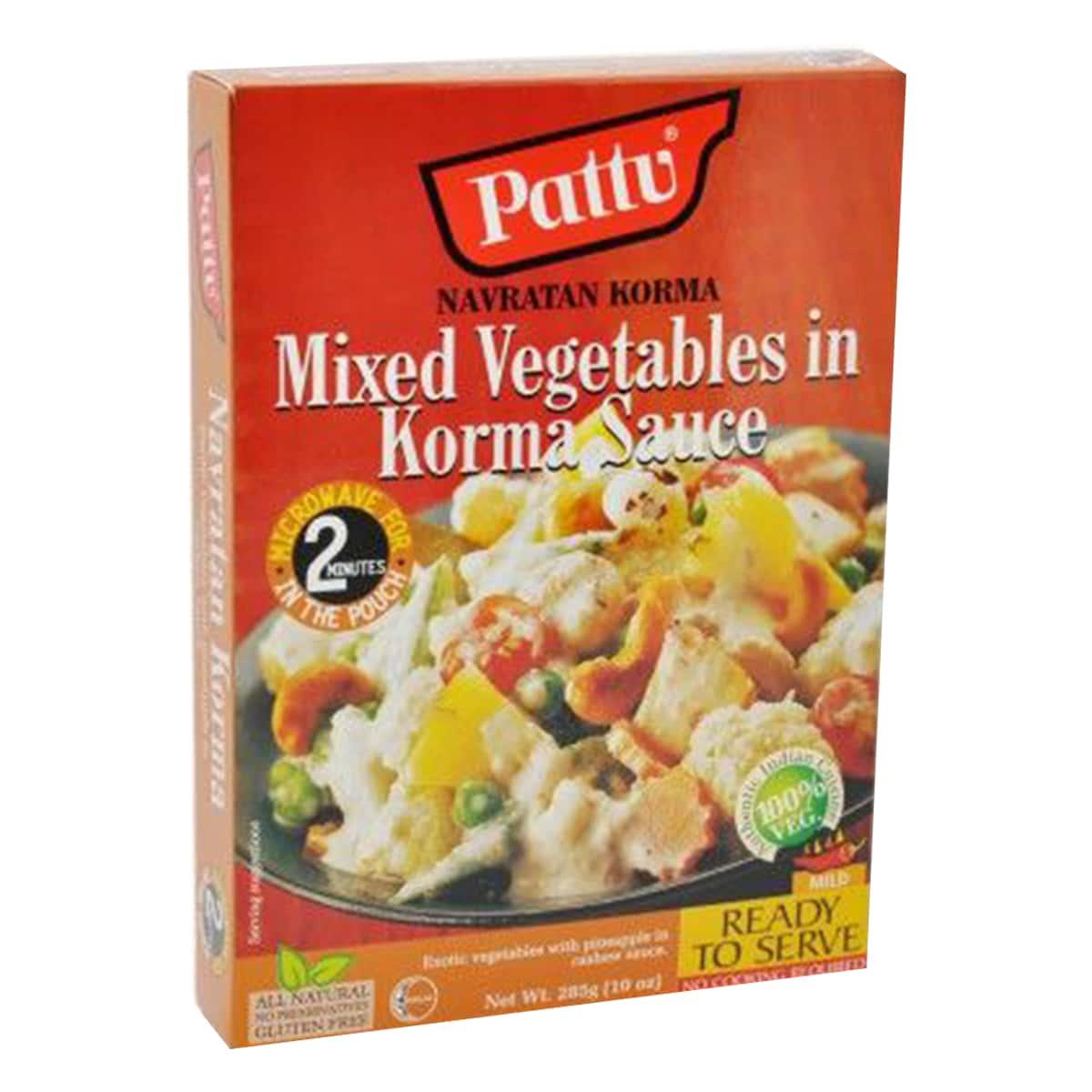 Buy Pattu Navratan Korma (Mixed Vegetables in Korma Sauce) Ready to Serve - 285 gm