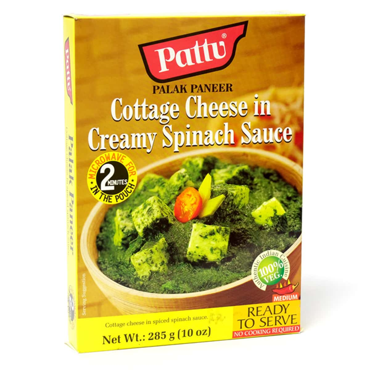 Buy Pattu Palak Paneer (Cottage Cheese in Creamy Spinach Sauce) Ready to Serve - 285 gm