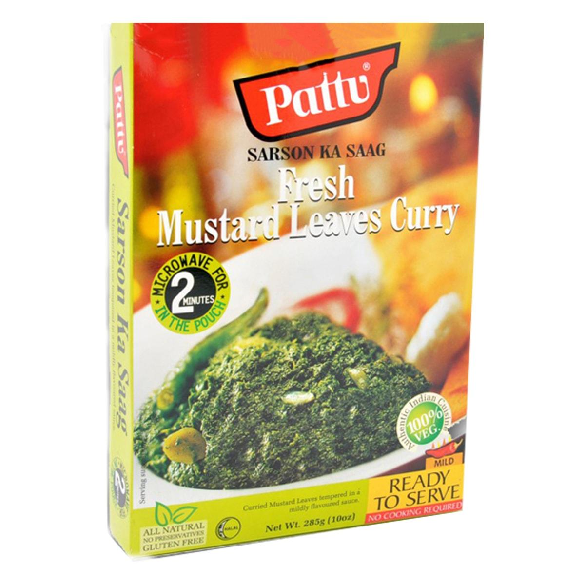 Buy Pattu Sarson Ka Saag (Fresh Mustard Leaves Curry) Ready to Serve - 285 gm