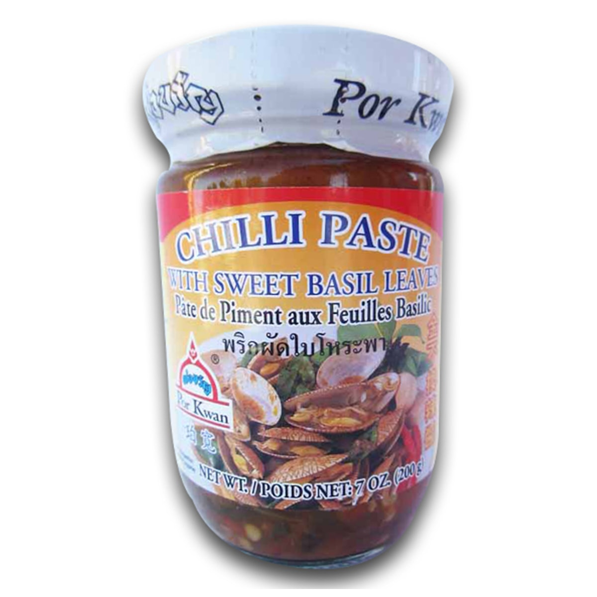 Buy Por Kwan Chilli Paste with Sweet Basil Leaves - 200 gm