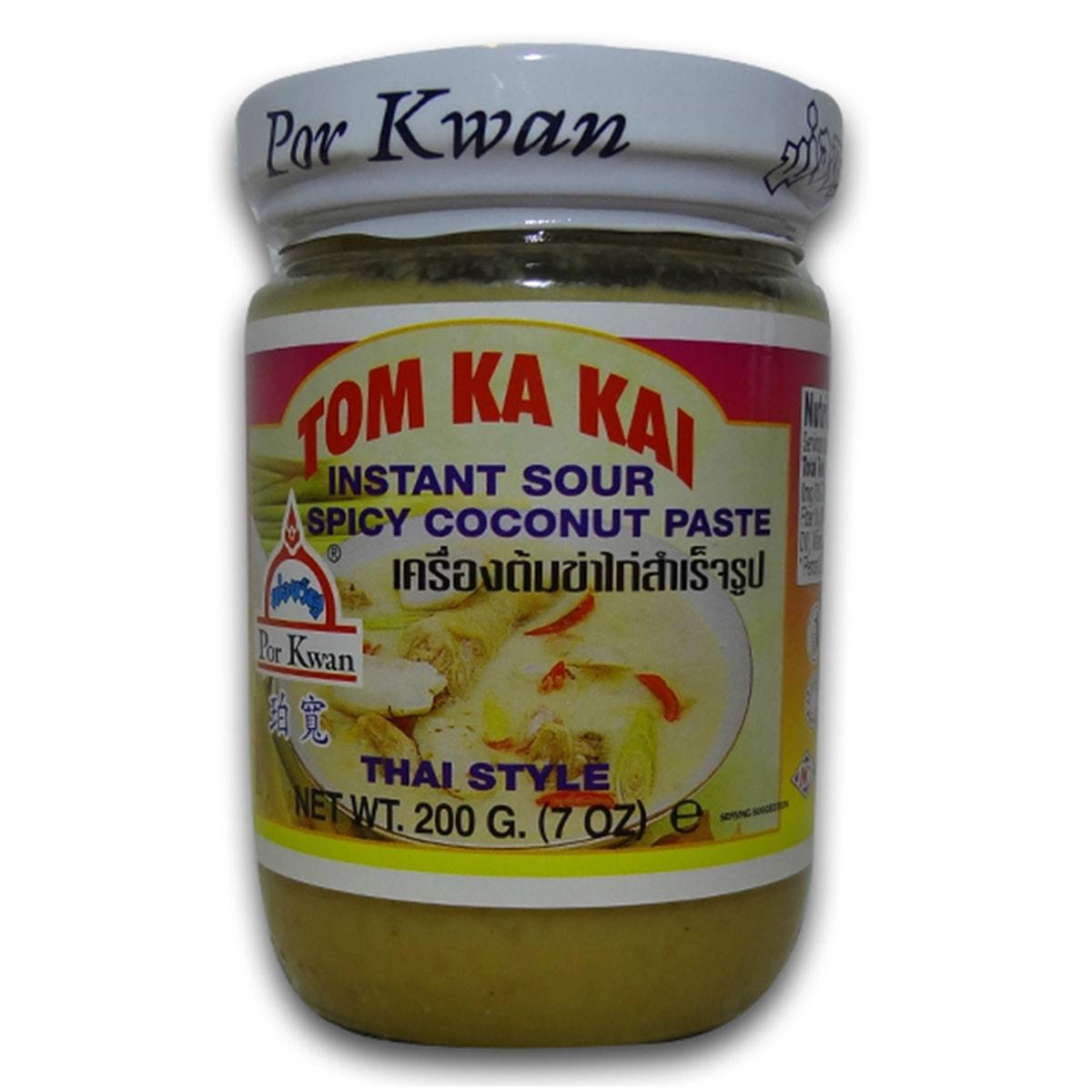 Buy Por Kwan Tom Ka Kai (Instant Sour Spicy Coconut Paste Thai Style) - 200 gm