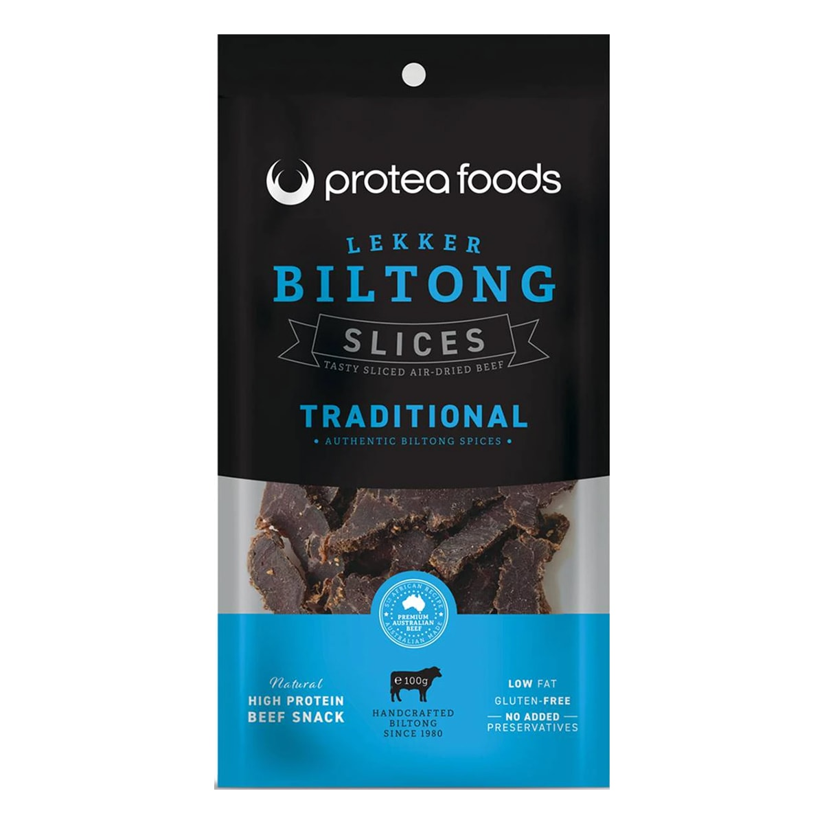 Buy Protea Foods Lekker Biltong Slices Traditional - 100 gm