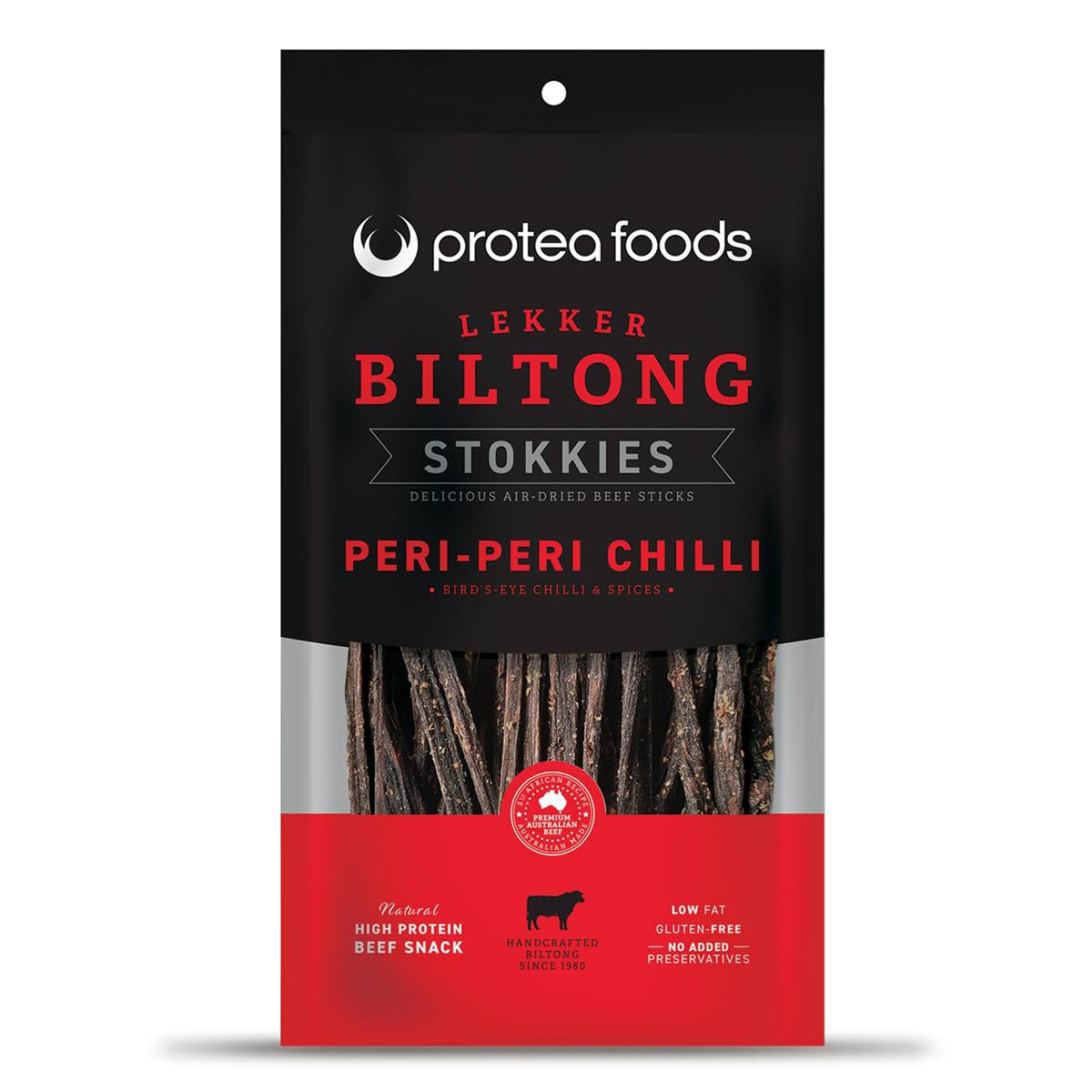 Buy Protea Foods Lekker Biltong Stokkies Peri Peri - 100 gm