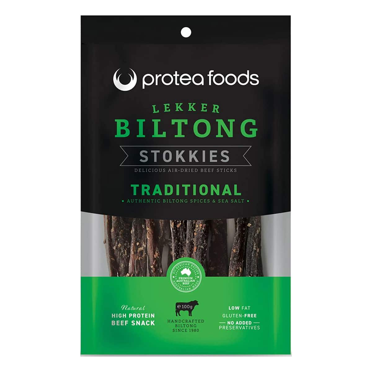 Buy Protea Foods Lekker Biltong Stokkies Traditional - 100 gm