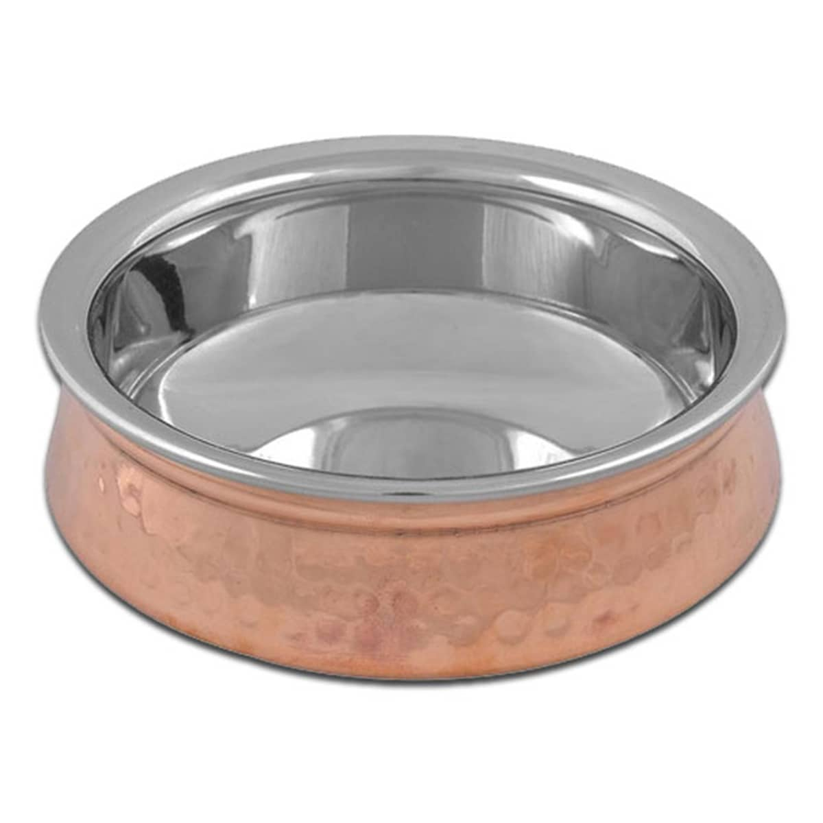 Buy IAG Products Copper and Steel Serving Dish (Handi) - 410 gm