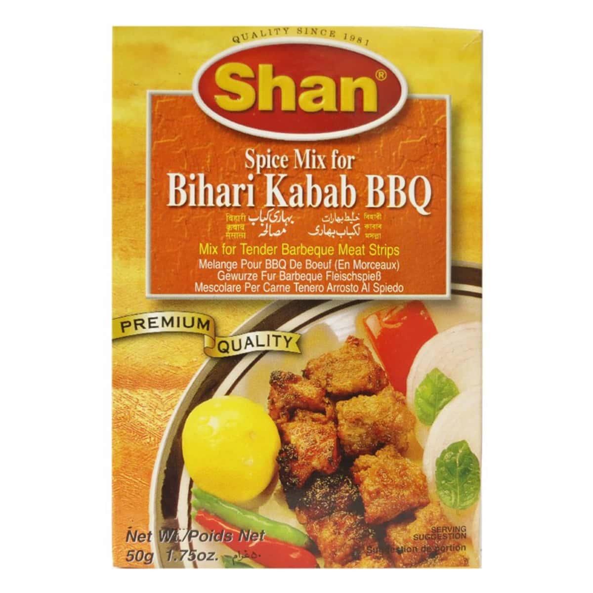 Buy Shan Bihari Kabab BBQ Mix - 50 gm
