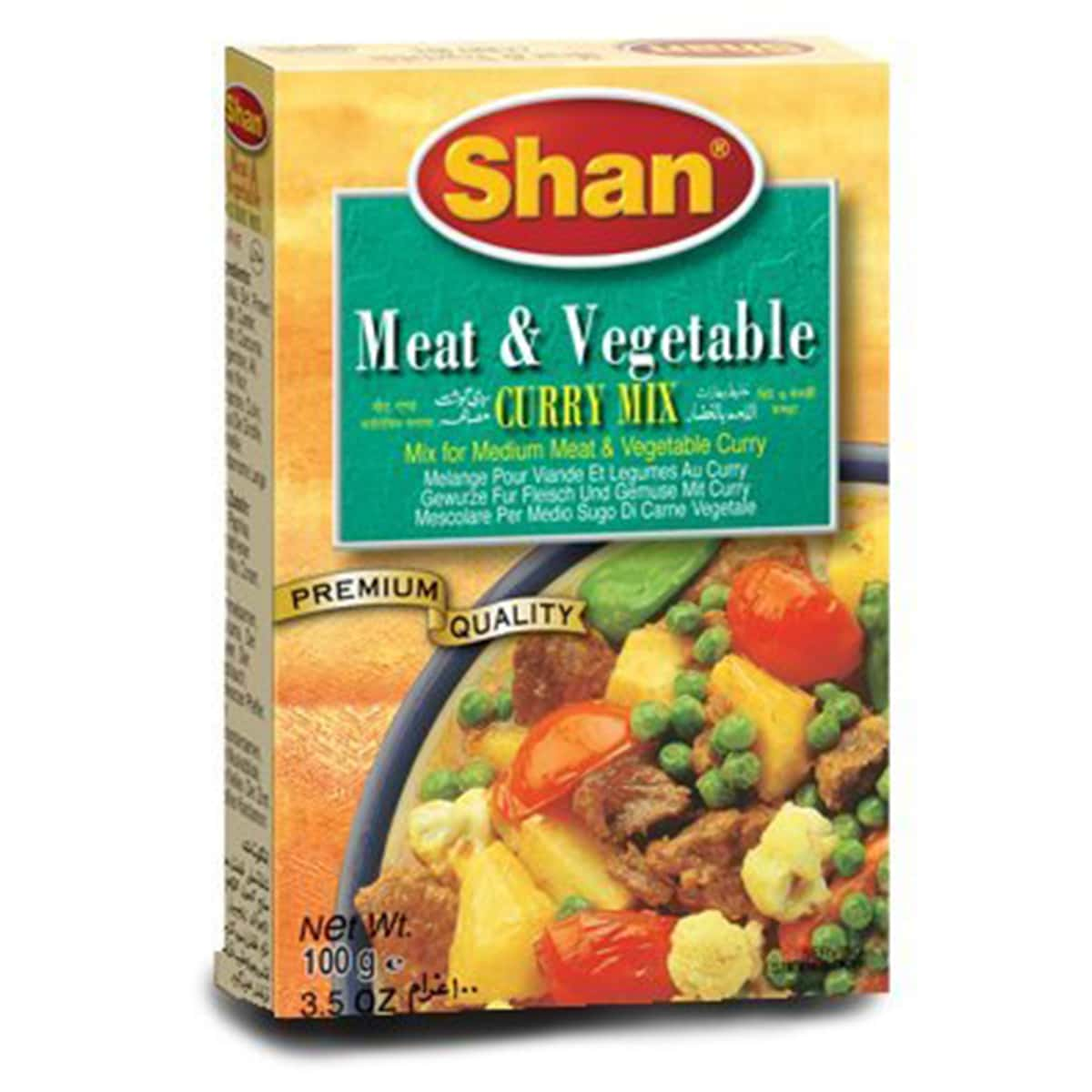 Buy Shan Meat and Vegetable Curry Mix - 100 gm