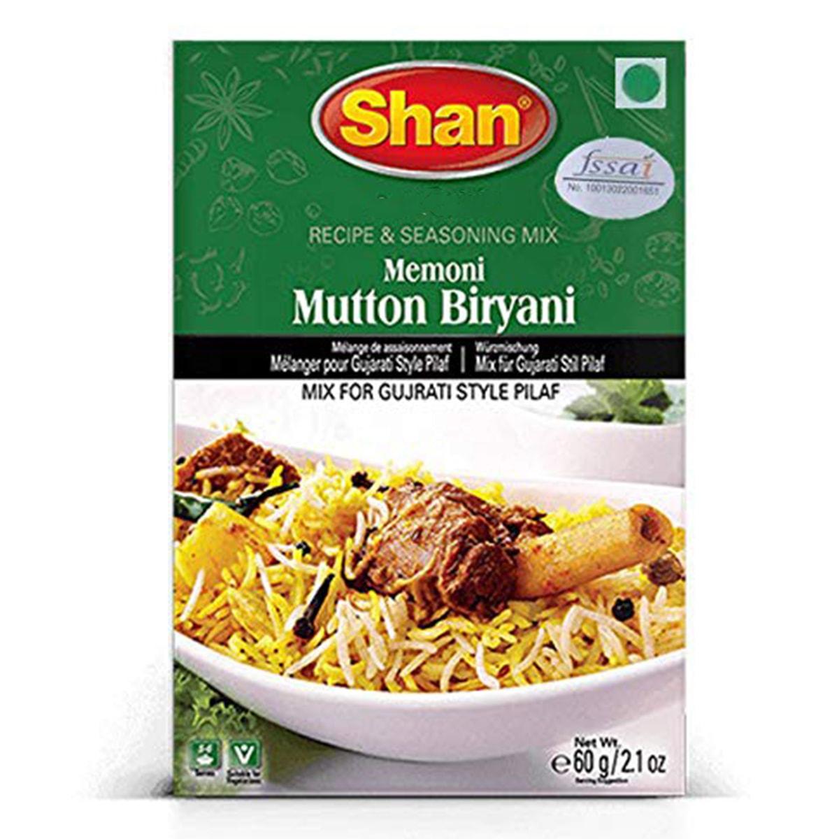 Buy Shan Memoni Mutton Biryani Mix - 60 gm
