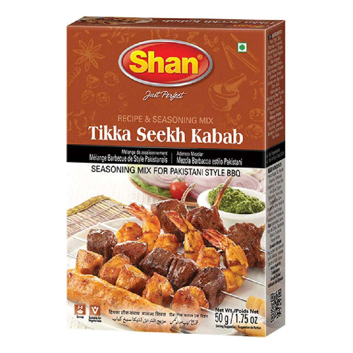 Buy Shan Tikka Seekh Kabab Bbq Mix - 50 gm
