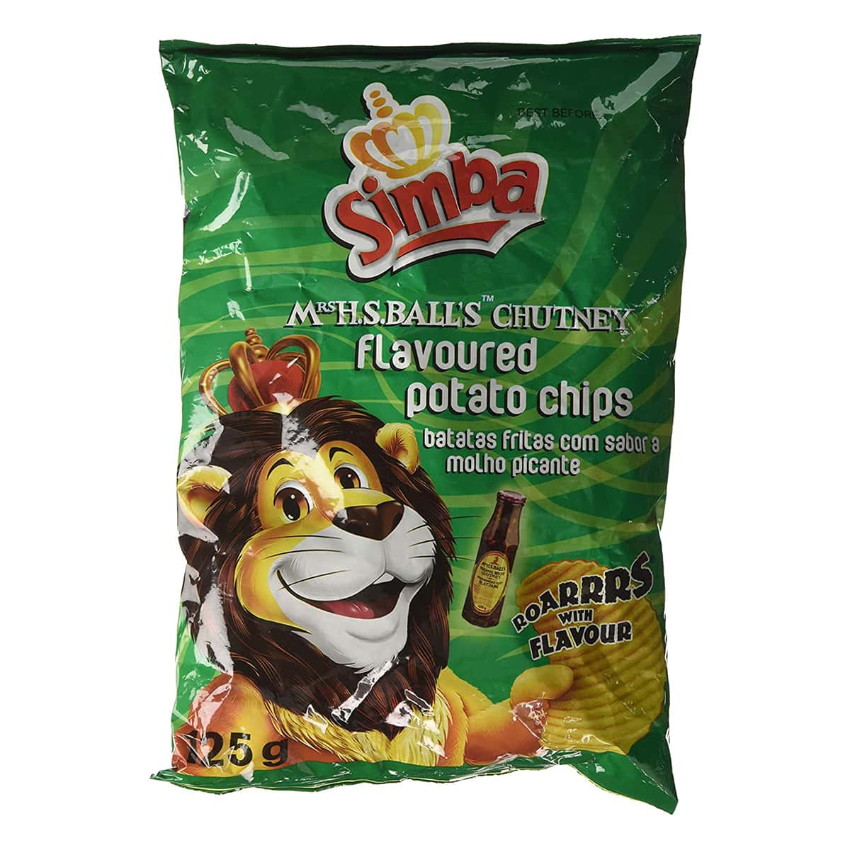 Buy Simba Mrs H S Balls Chutney Flavoured Potato Chips - 125 gm