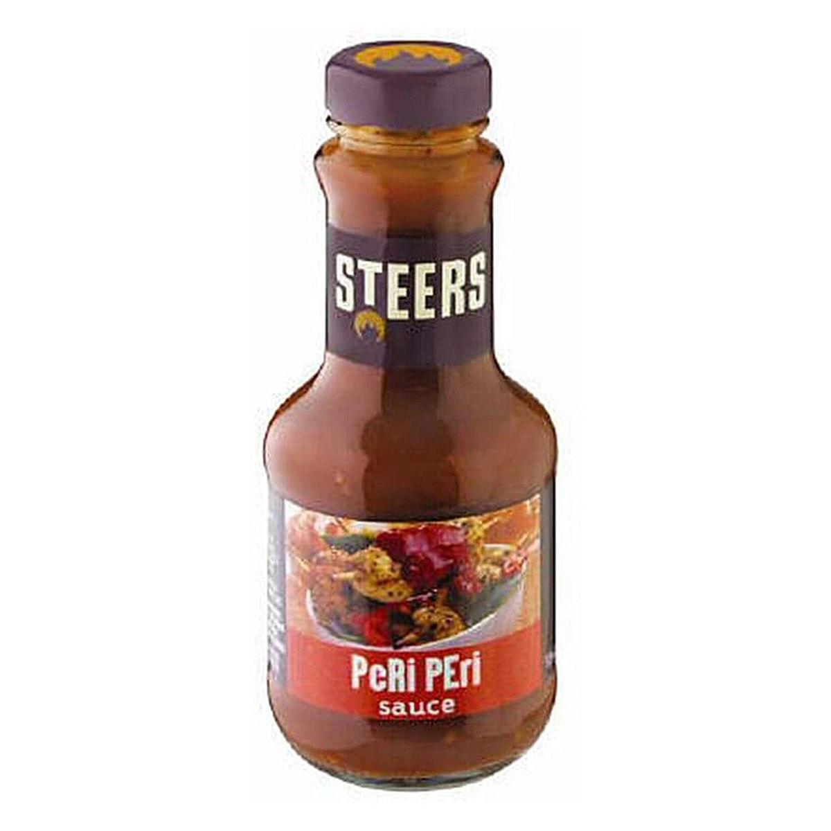 Buy Steers Hot Peri-peri Sauce - 375 ml