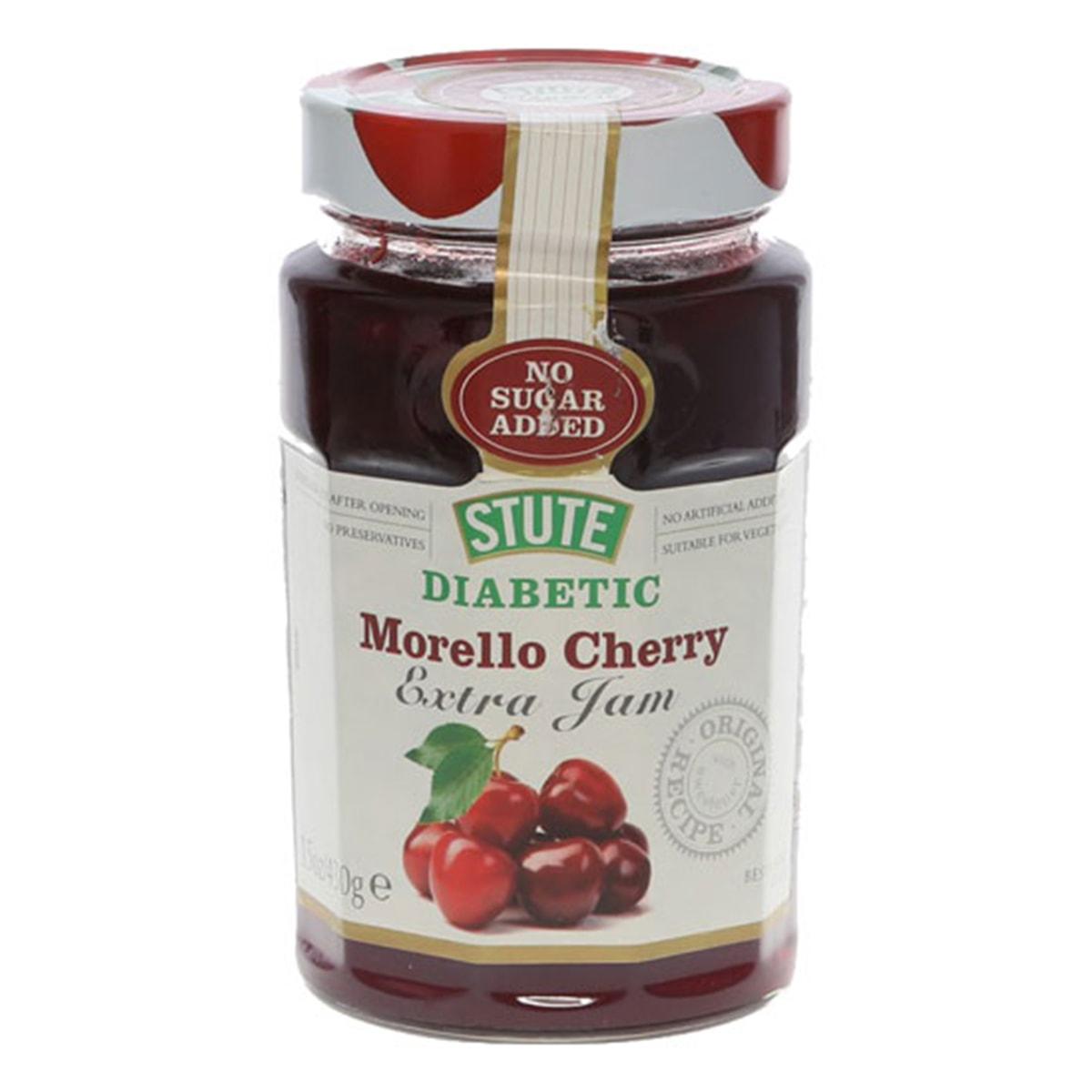 Buy Stute Diabetic Morello Cherry Extra Jam (No Sugar Added) - 430 gm