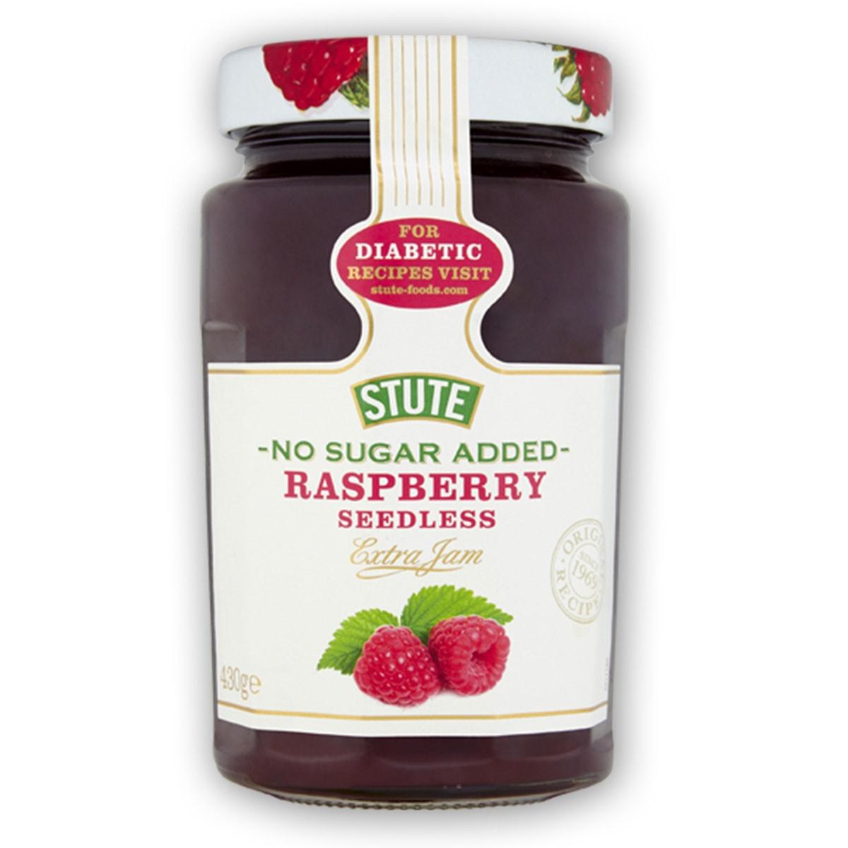 Buy Stute Diabetic Raspberry Extra Jelly Jam (No Sugar Added) - 430 gm