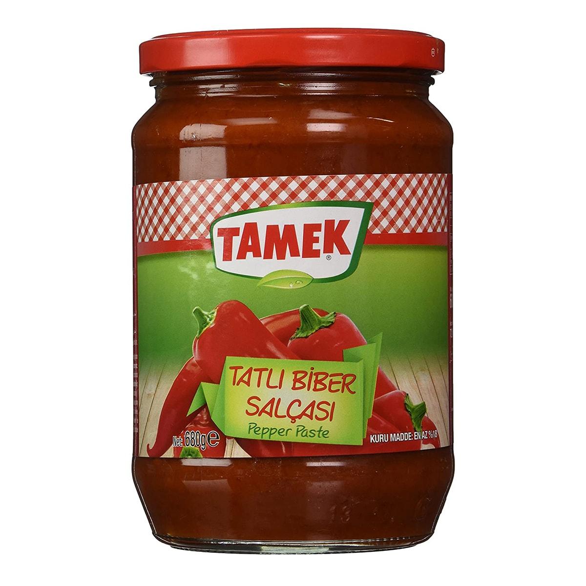 Buy Tamek Pepper Paste Hot (Tatli Biber Salcasi) - 680 gm