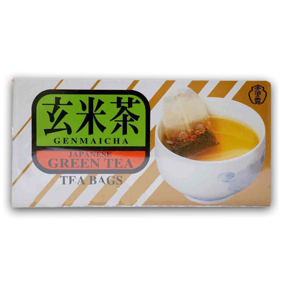 Buy Ujinotsuyu Japanese Green Tea with Roasted Rice (Genmaicha) (20 Teabags) - 40 gm