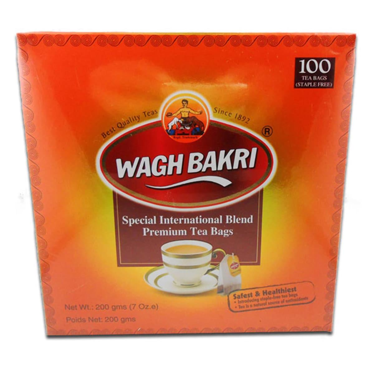 Buy Wagh Bakri Special International Blend Premium Tea (100 Tea Bags) - 200 gm