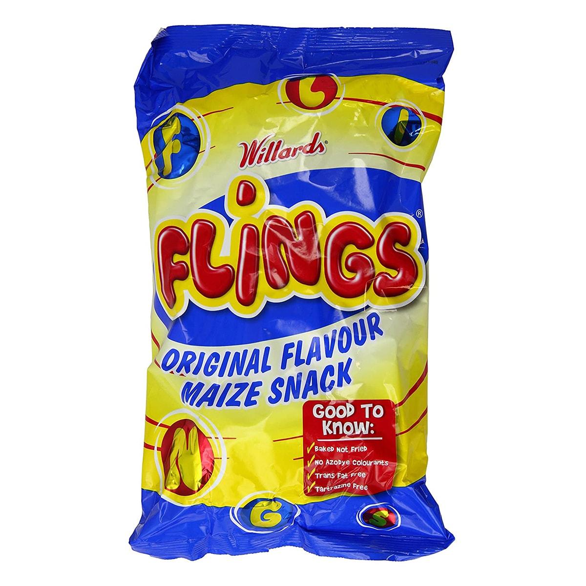 Buy Willards Flings Original Flavour Maize Snack - 150 gm