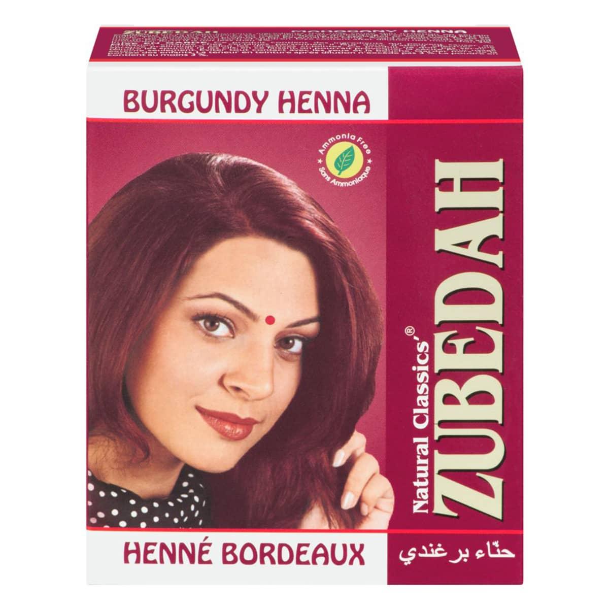 Buy Zubedah Herbal Burgundy Henna (Natural Classics Hair Dye) - 60 gm