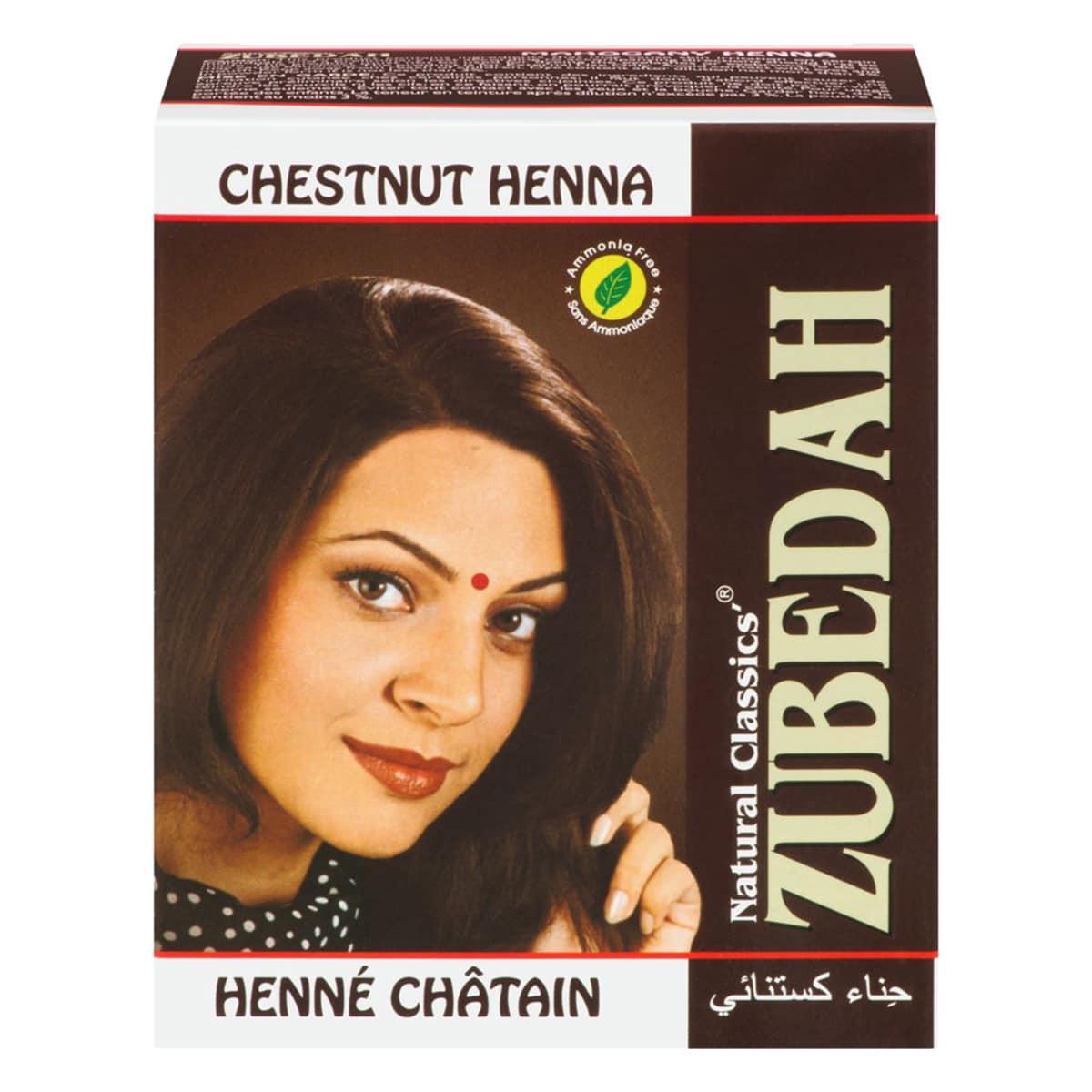 Buy Zubedah Herbal Chestnut Henna (Natural Classics Hair Dye) - 60 gm